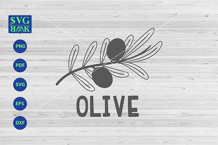 Olive svg, Olive with flower svg, png, dxf, cut