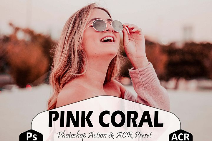 Pink Coral Photoshop Actions And ACR Presets, Peach modern