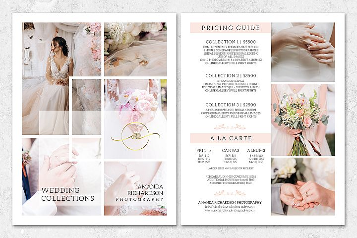 Wedding Pricing Guide Template for Photographers