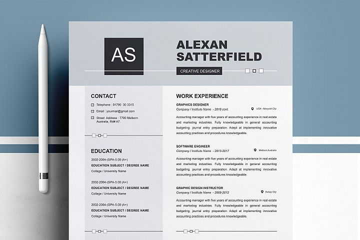 Resume Cv Template / Cover Letter