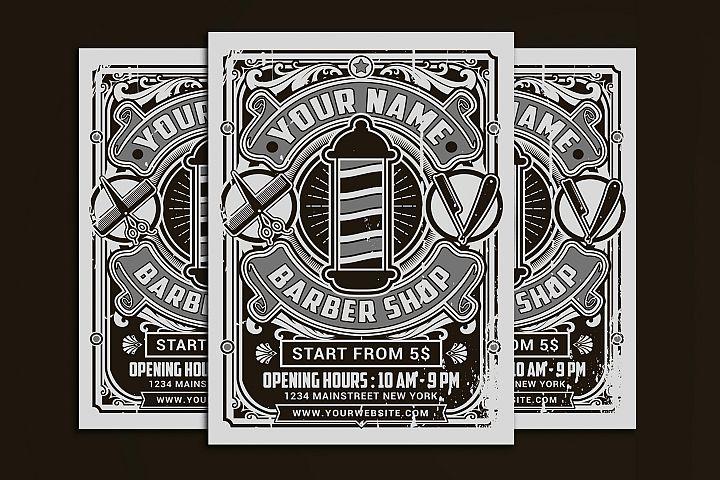 Retro Barber Shop Flyer