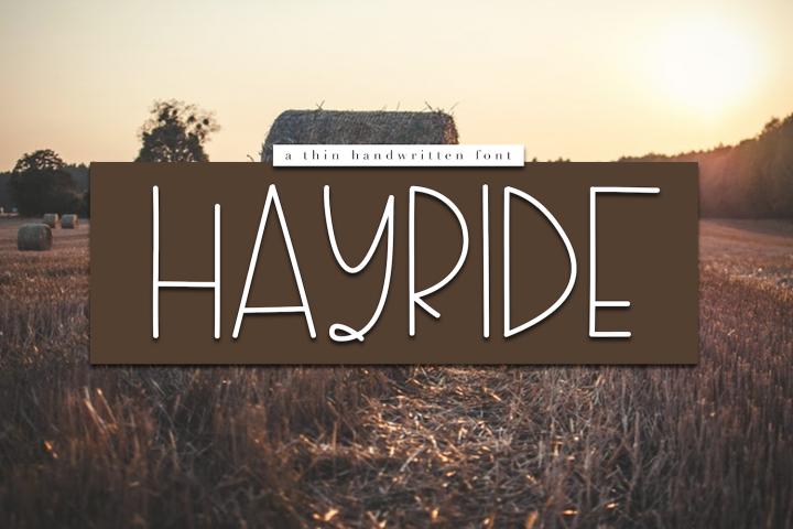Hayride - A Handwritten Font