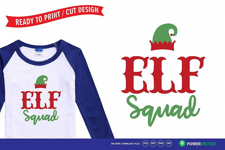 Elf Squad Svg - Christmas T shirt design for kids