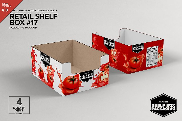 Retail Shelf Box 17 Packaging Mockup