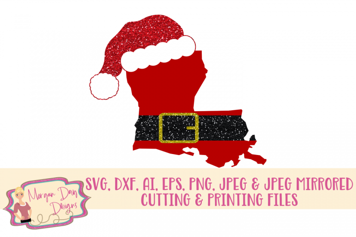 Louisiana Santa SVG, DXF, AI, EPS, PNG, JPEG