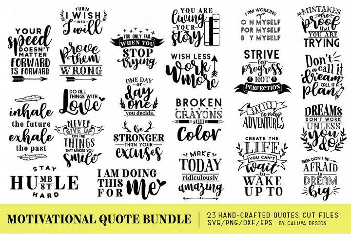 Motivational Quote SVG Cut Files Bundle