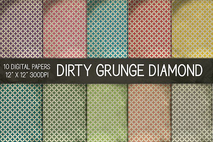 Dirty Grunge Diamond Digital Papers, Grunge Texture Paper