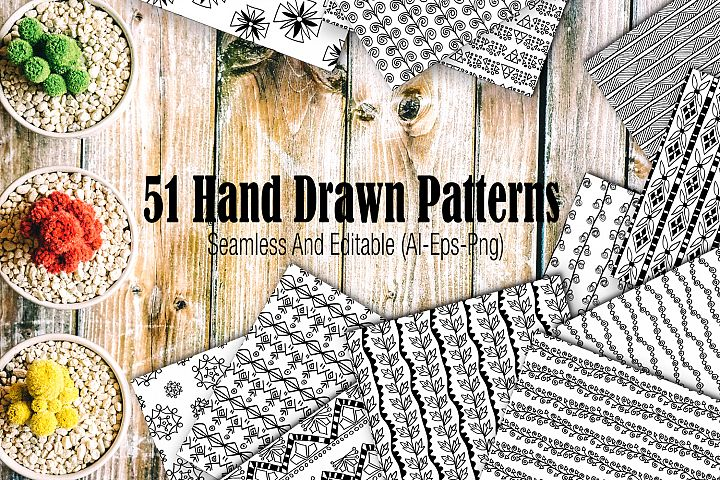 51 hand drawn patterns