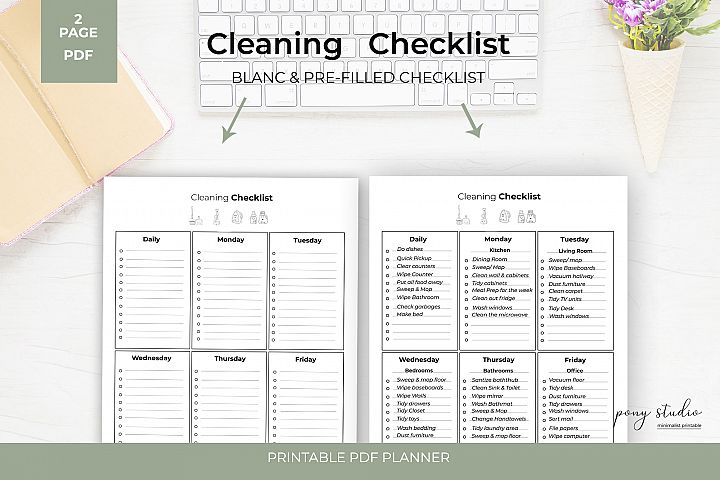 Cleaning Checklist Printable - Cleaning List Printable
