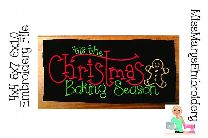 Tis the Christmas Baking Season Embroidery File