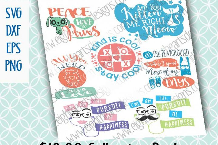 Kid Collection 7 Designs -  SVG // PNG // EPS // DXF