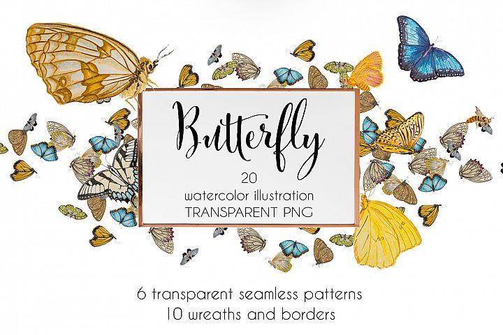 Butterfly watercolor set
