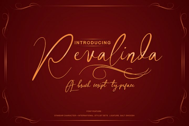 REVALINDA HANDWRITTEN BRUSH FONT