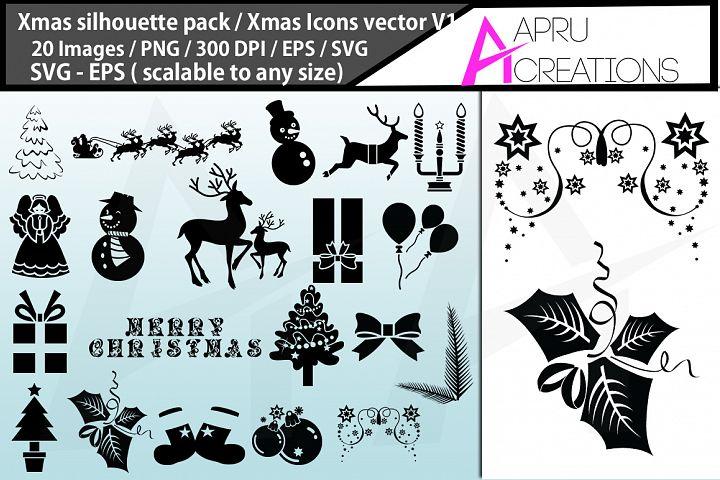 x mas svg silhouette / christmas svg silhouette bundle