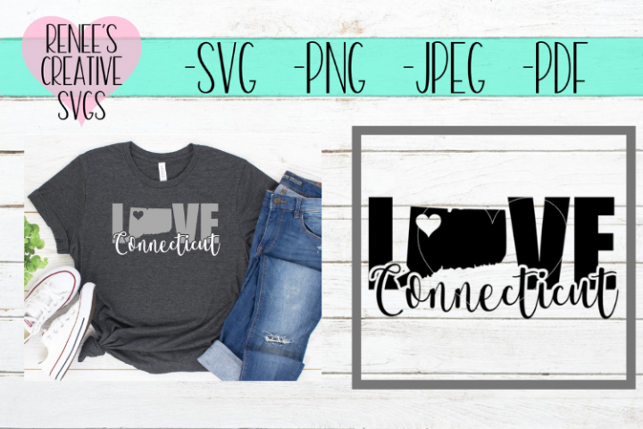 Connecticut Love | State SVG | SVG Cutting File
