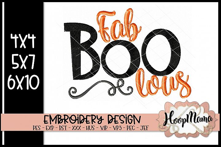Fab Boo Lous - Halloween Embroidery Design