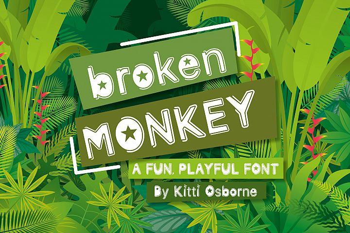 Broken Monkey - playful font