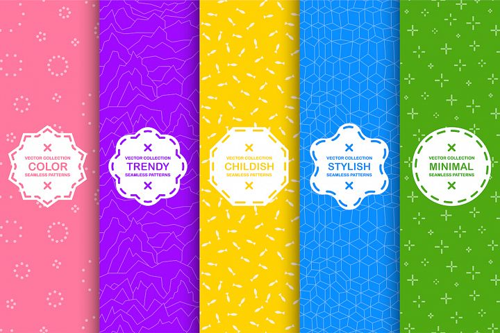 Colorful seamless stylish patterns
