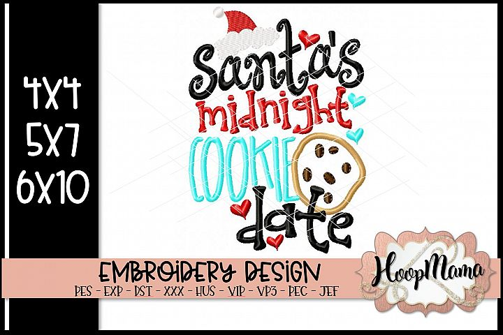 Santas Midnight Cookie Date- Christmas Embroidery