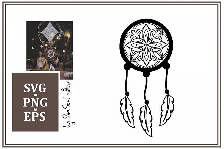 Dream Catcher Mandala Design SVG, PNG, EPS