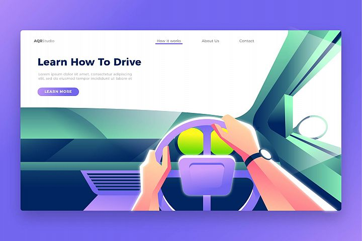 Drive Learning - Banner & Landing Page