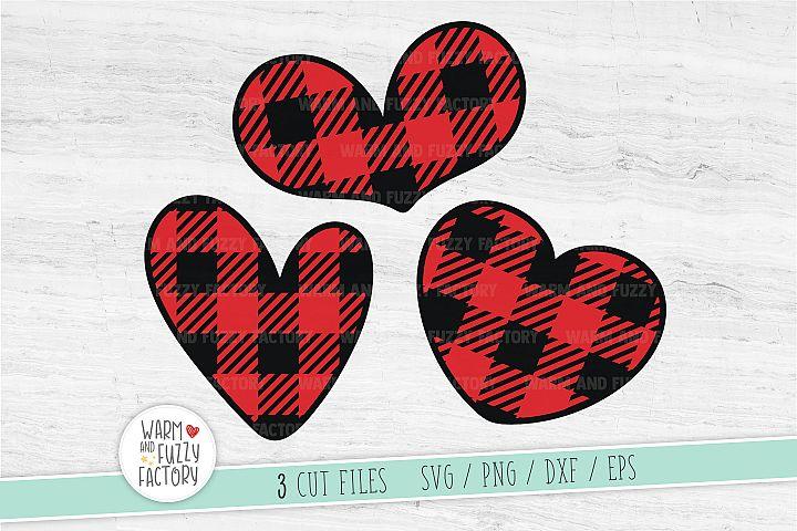 Buffalo plaid hearts svg, Hearts svg, Valentines day svg