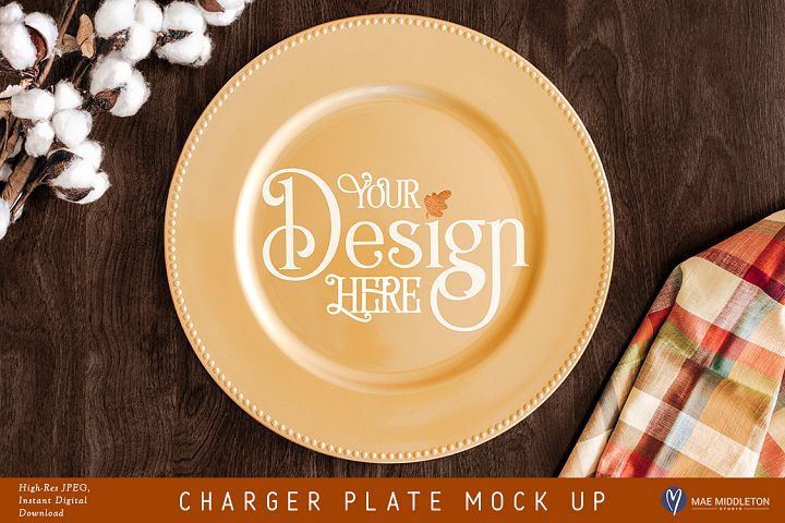 Charger Plate crafters mock up for Fall / Thanksgiving