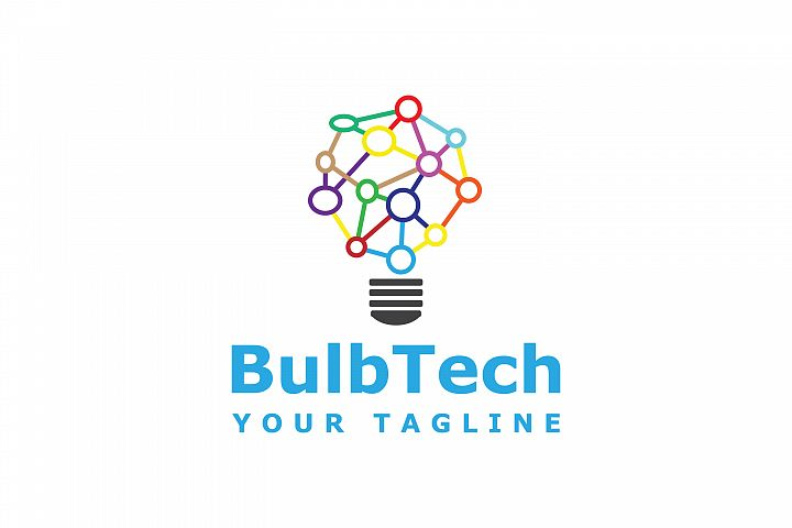 light bulb technology logo