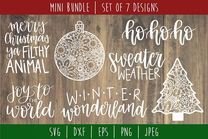 Christmas Mini Bundle Volume 1 Set of 7 - SVG