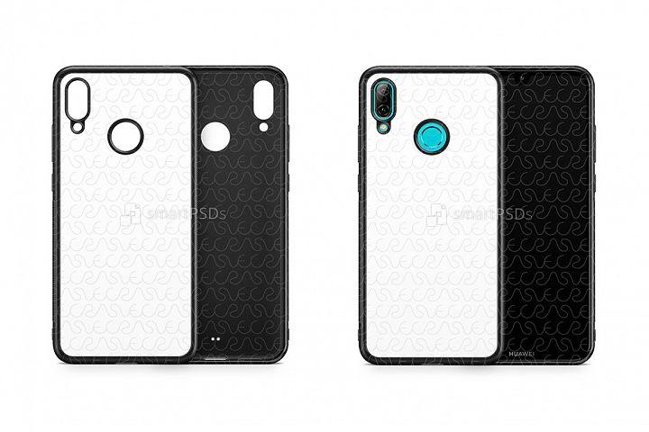Huawei Y7 2d RubberFlex Case Design Mockup 2019