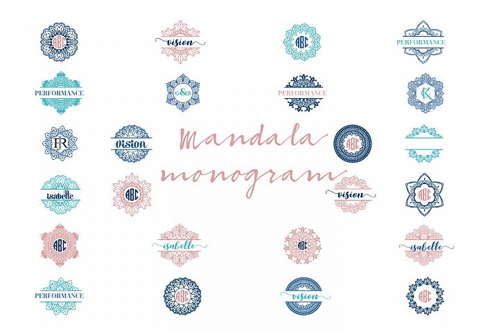 Mandala Monogram Logo Bundle