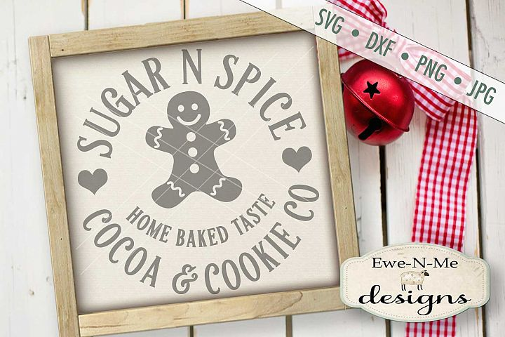 Sugar Spice Cocoa and Cookie Company SVG DXF Files
