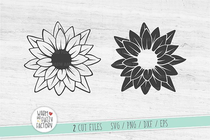 Lilly svg, Lotus svg, Flower svg, Flower monogram svg