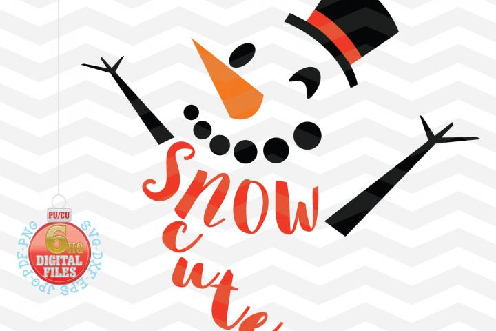 Snowman Svg -Snow Cute SVG - Christmas SVG - Snow SVG - Xmas