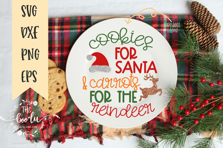 Cookies for Santa & Carrots for the Reindeer SVG EPS DXF PNG