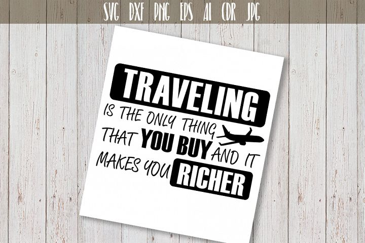 Traveling SVG Adventure Quote Vector Typography
