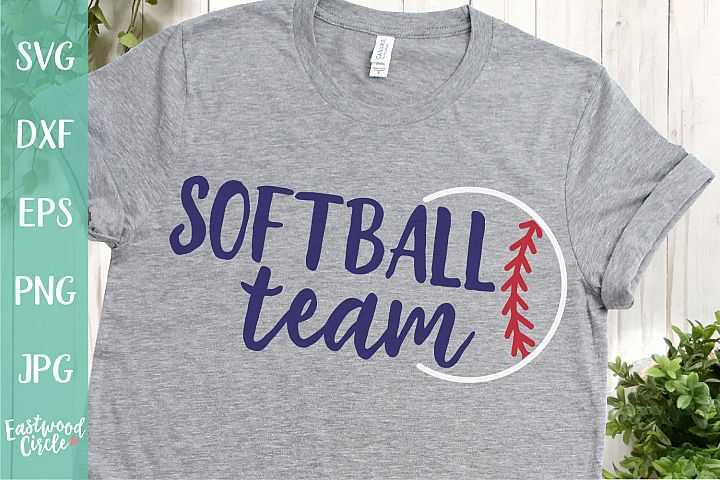 Softball Team - A Softball SVG Cut File for Crafters