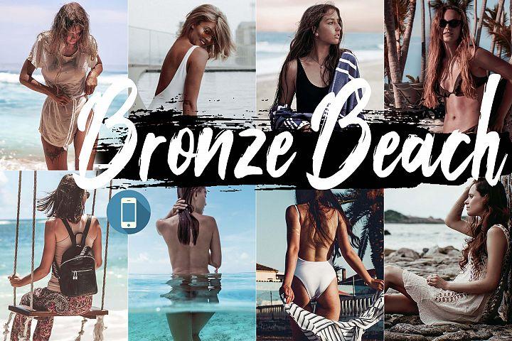 Neo bronze Beach Theme mobile lightroom presets summer tone