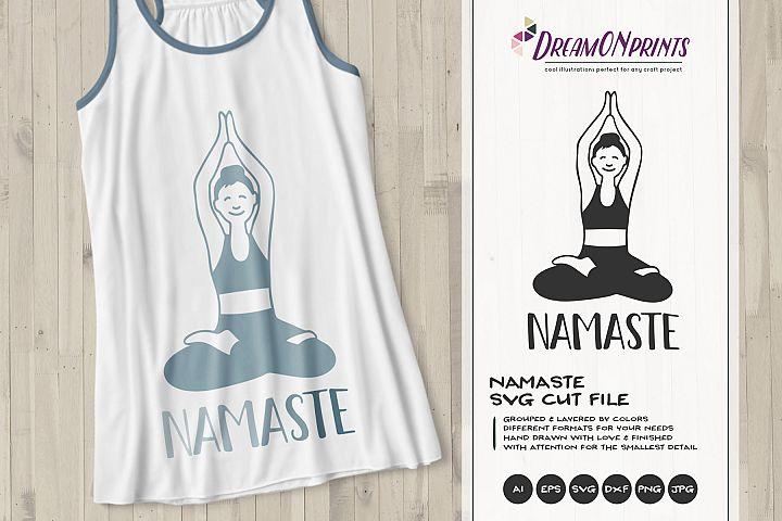 Yoga Girl SVG | Namaste SVG Lotus
