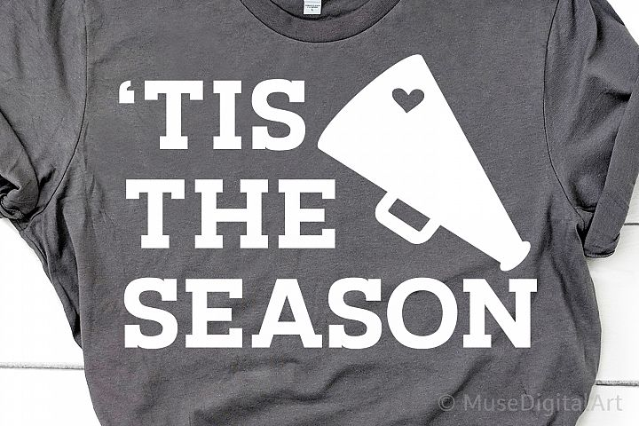 Football Season Svg, Football Svg, Tis the Season, Megaphone
