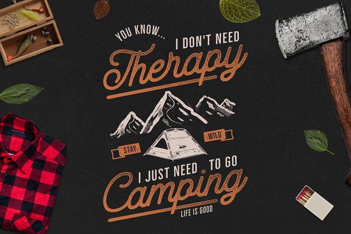 Camping T-Shirt Design. Retro Adventure Badge SVG Files