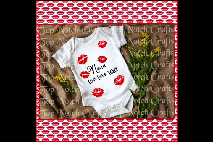 Nana Was here Baby Onesie design File