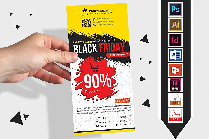 Rack Card | Black Friday DL Flyer Vol-02