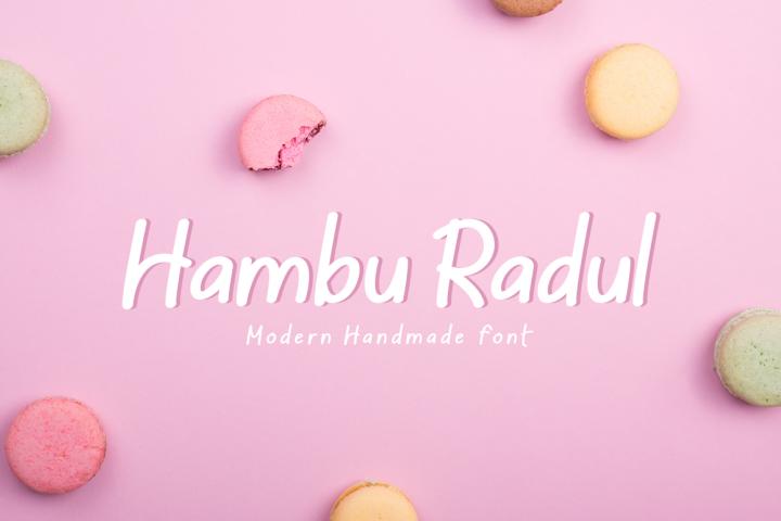 Hambu Radul - Modern Handmade Font