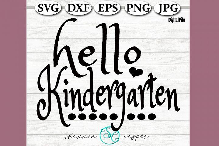 Back to School | Kindergarten SVG