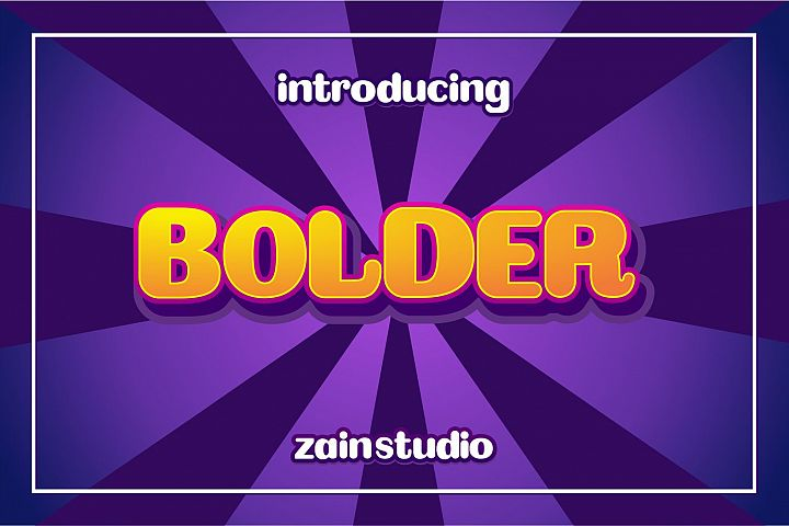 Bolder Display Font