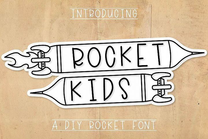 Rocket Kids - A Type-able Rocket Font