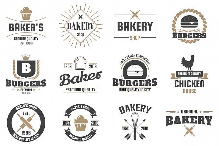 60 Vintage Logo Set example 7