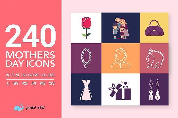 Mothers Day Vector Icons [Mothers day]