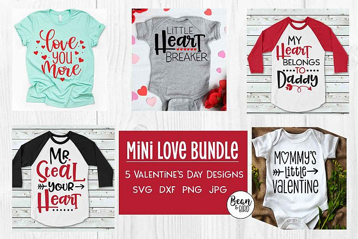 Mini Love Bundle Valentines SVG